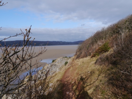 The cliff top path between Arnside Point and Park Point
