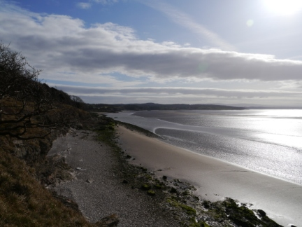 Looking down the coast towards Silverdale