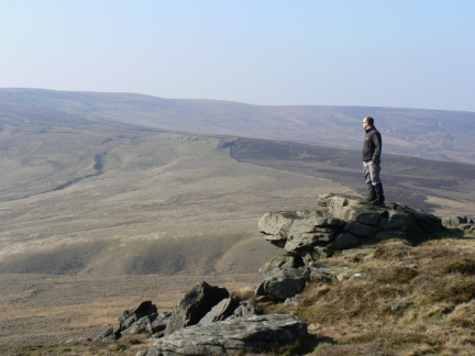 Enjoying the view from Bowland Knotts