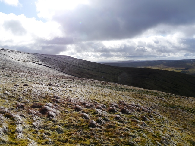 The upper slopes of Buckden Pike
