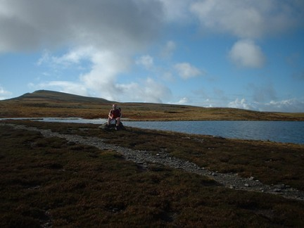 Next to one of the Whernside Tarns