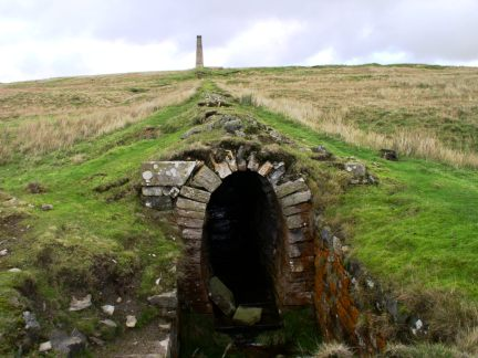 Flue and chimney on Grassington Moor