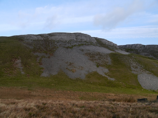 Looking back up at Ellerkin Scar from Broomber