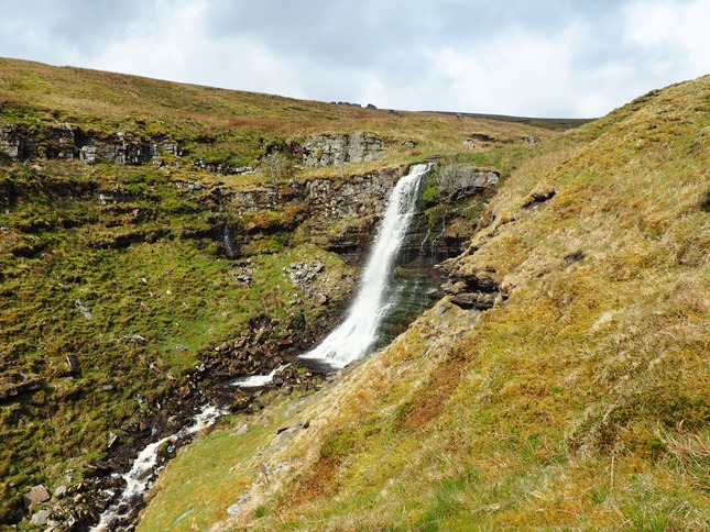 The upper waterfall named by Wainwright as 'The Mare's Tail'
