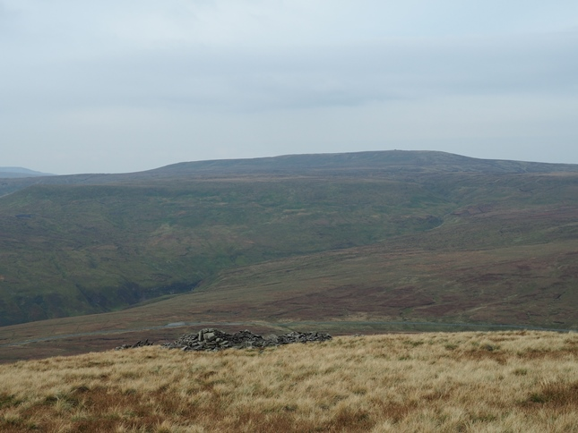 Looking across the Buttertubs road towards Great Shunner Fell