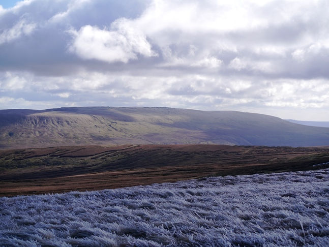 The view south towards Great Whernside