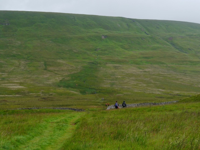 Approaching the final climb of the day on to Great Whernside