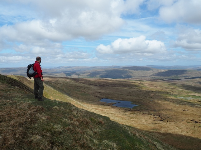 Looking back down at Greensett Tarn from Whernside