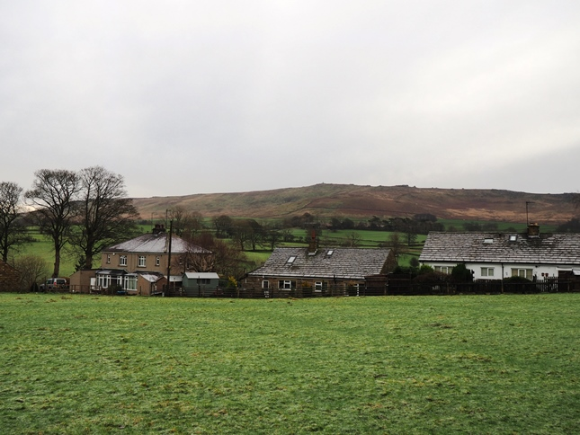 Hetton with the slopes of Cracoe Fell beyond