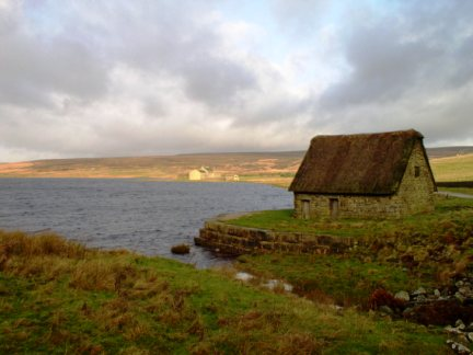 High Laithe Barn next to Grimwith Reservoir