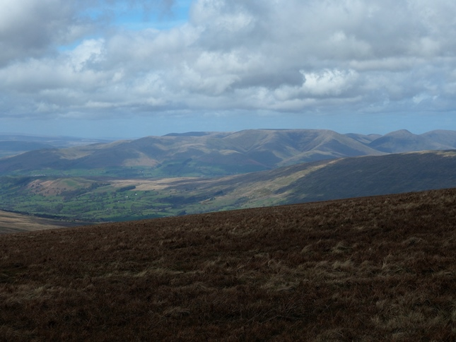 Looking towards the Howgill Fells from the top of Whernside