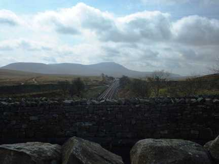 Ingleborough from near Bleamoor Sidings
