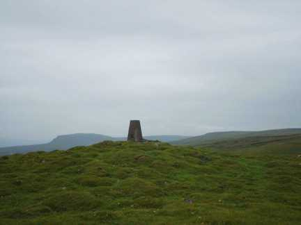 The trig point on Knowe Fell