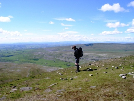 Matt on Ingleborough
