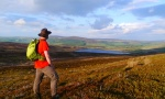 Enjoying the view of Lower Barden Reservoir