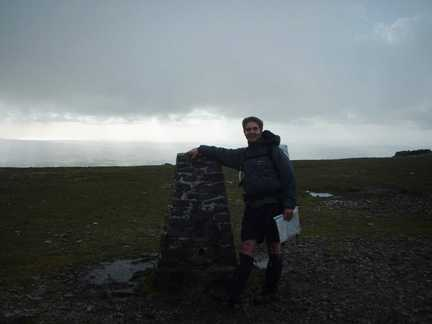 Matt on the summit of Ingleborough