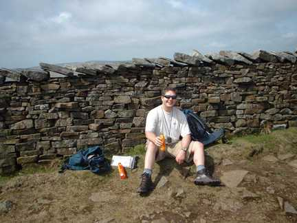 Matt having a rest near the top of Whernside
