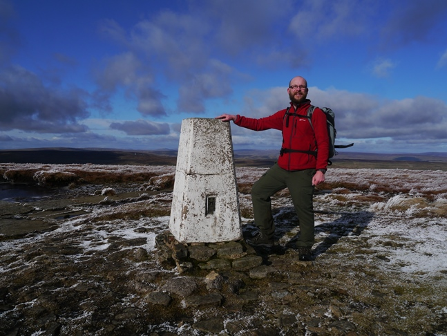 By the trig point on Buckden Pike