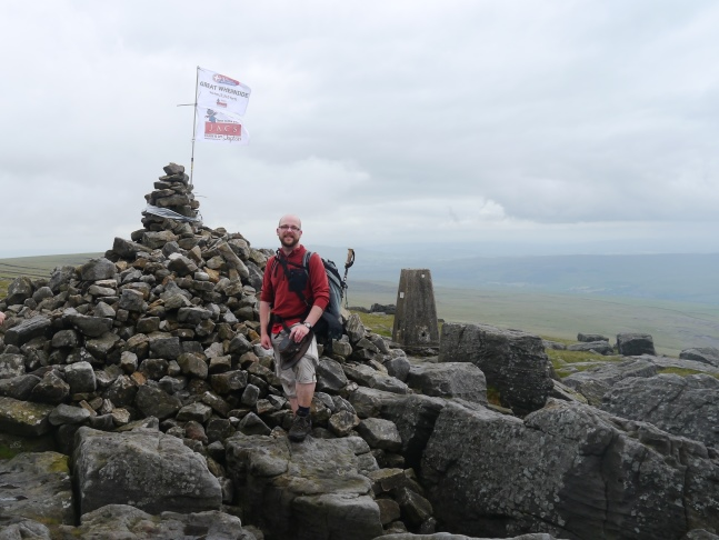 The top of Great Whernside - the final summit of the day