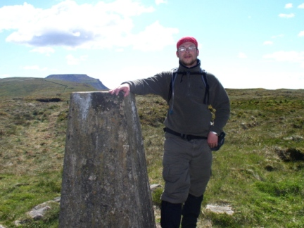 By the trig point on Park Fell