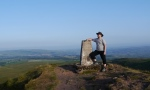 By the trig point on Sharp Haw