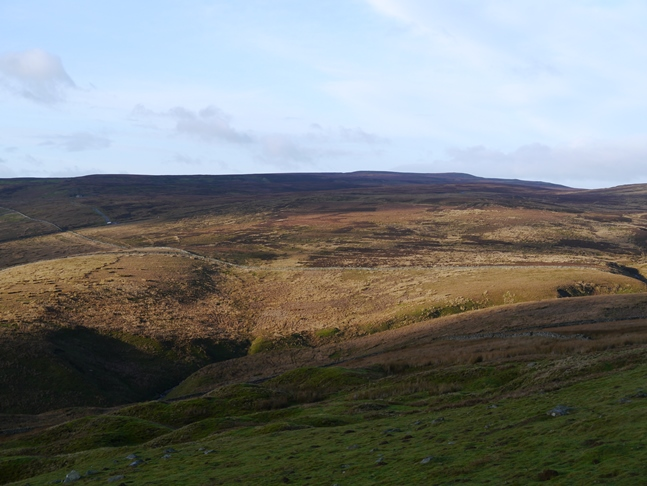 Looking west to the moorland of Oxnop Common