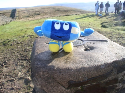 Our mascot 'Phil' on the top of Pen-y-Ghent