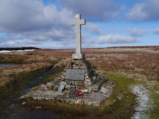 Memorial cross to the Polish airmen who crashed at this spot in 1942