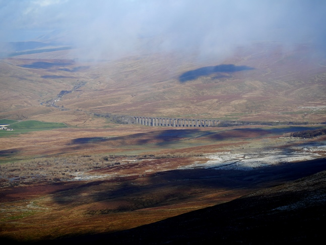 The Ribblehead Viaduct from Ingleborough