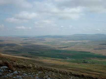 Looking down to Ribblehead from the top of Whernside