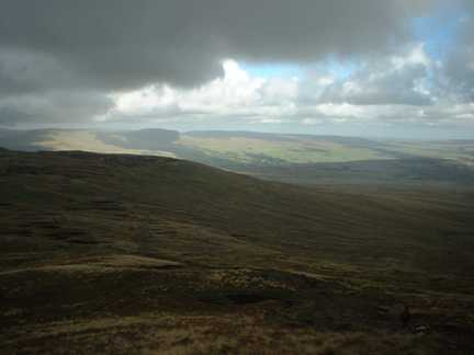 The flanks of Simon Fell as seen from Ingleborough