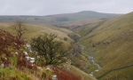 Looking down on Trollers Gill from Middle Hill