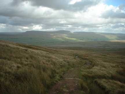 Looking towards Pen-y-Ghent on the march back from Ingleborough