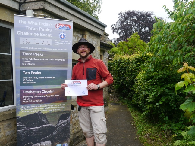With my certificate at the end of the walk