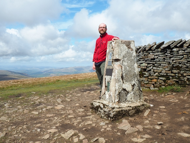 By the trig point on the summit of Whernside