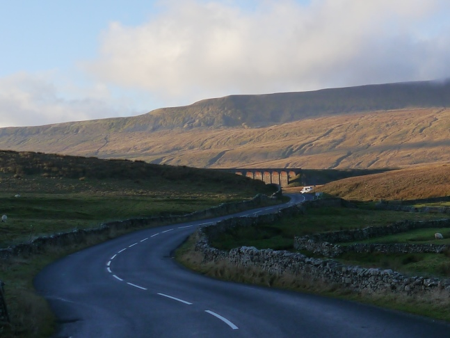 Approaching Whernside on the road from Horton