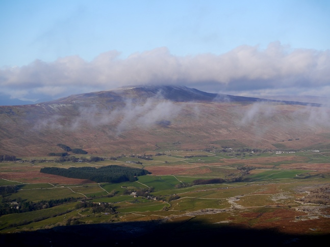 A cloud topped Whernside as seen from Ingleborough