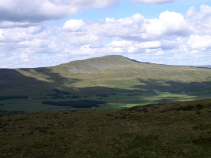 Looking back across to Whernside