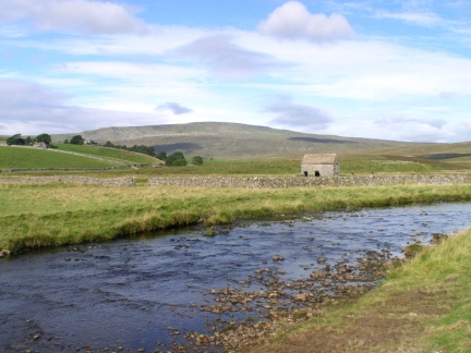 The River Ribble with Whernside in the distance
