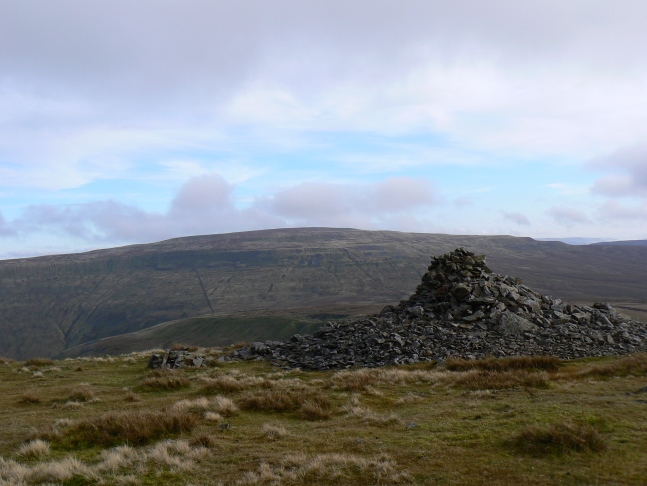Whernside as seen from the cairn on Gatty Pike on the other side of Deepdale
