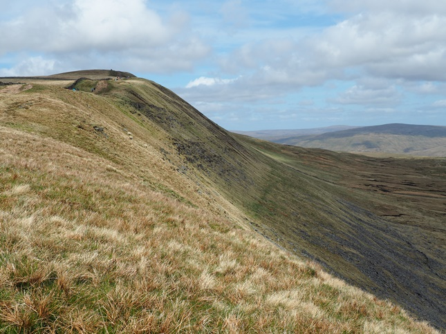 The steep eastern slopes of Whernside