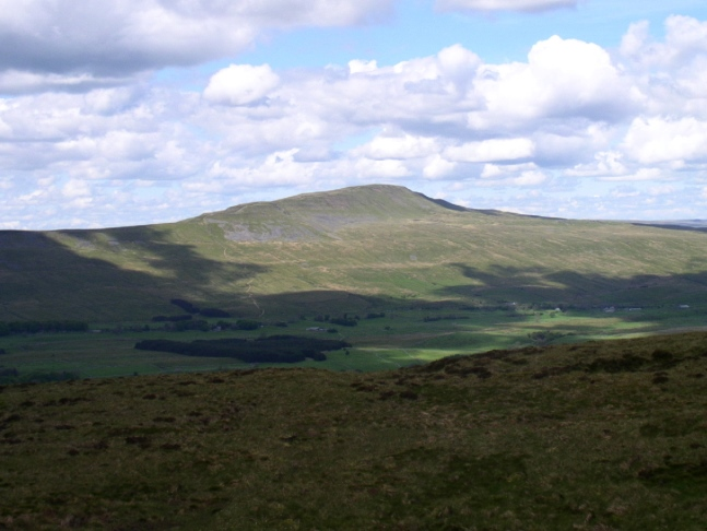 Whernside as seen from Ingleborough on a clear day