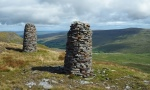 Two of the standards on Wild Boar Fell