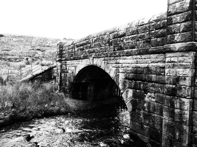 The bridge at the head of Winterburn Reservoir