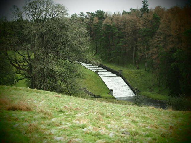 The outflow from Winterburn Reservoir