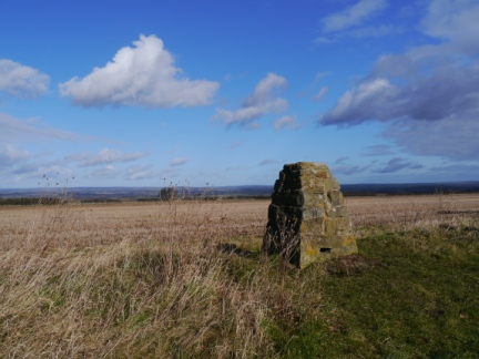 The trig point on Caulkleys Bank