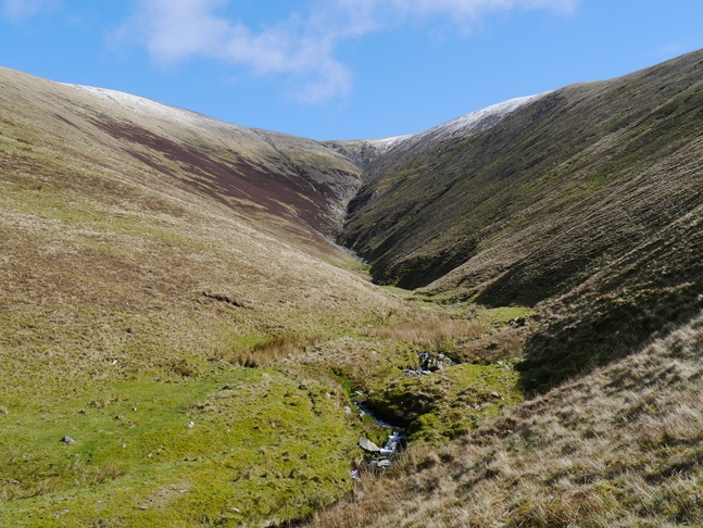 The steep upper reaches of Bram Rigg Beck