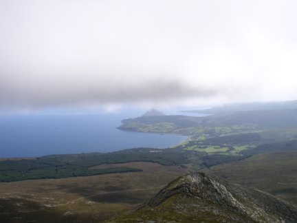 Brodick Bay and Holy Island from Goatfell