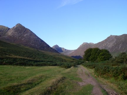 The entrance to Glen Sannox