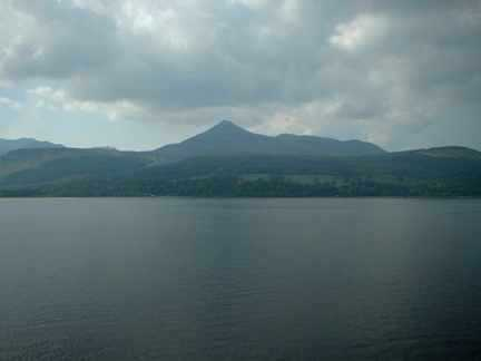 Goatfell as seen from the ferry as it crosses the Firth of Clyde